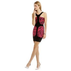 Herve Leger Black & Pink Bandage Mini Dress S 4 2